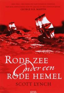 Rode zee onder een rode hemel