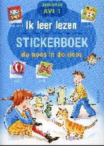 Ik leer lezen stickerboek - De poes in de doos