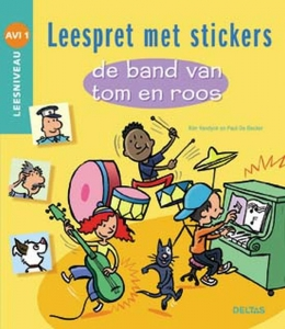 Leespret met stickers - De band van Tom en Roos AVI 1