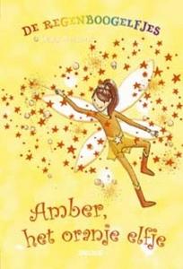 De regenboogelfjes Amber, het oranje elfje