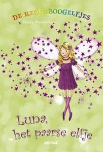 De regenboogelfjes Luna, het paarse elfje