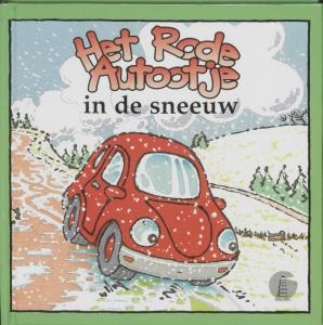 Het rode autootje Het rode autootje in de sneeuw