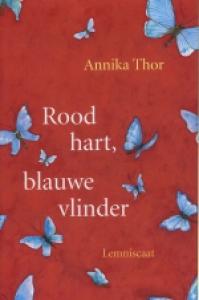 Rood hart, blauwe vlinder