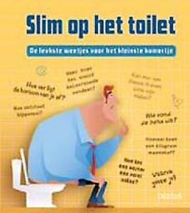 Slim op het toilet