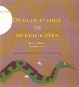 De Oude Python en de drie kippen