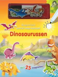 Magnetisch schrijf-veeg-leerboek  dinosaurussen