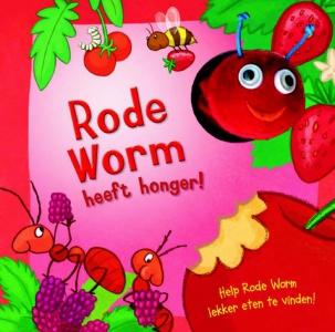 Rode worm heeft honger