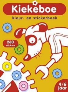 KIEKEBOE: KLEUR- EN STICKERBOEK HOND (4-6 JAAR)