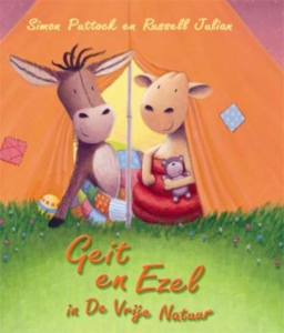 Geit en ezel in de vrije natuur