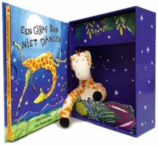 Een giraf kan niet dansen - cadeaubox met knuffel