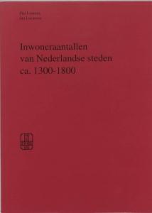 Inwoneraantallen van Nederlandse steden ca. 1300-1800
