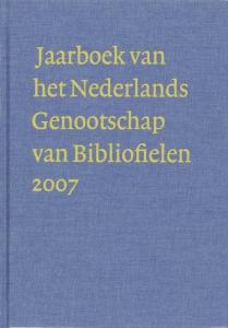 Jaarboek van het Nederlands Genootschap van Bibliofielen 2007 XV
