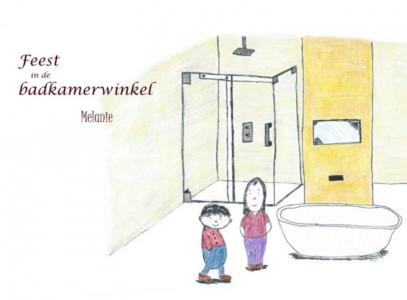 Feest in de badkamerwinkel