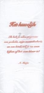 Poëzieservetten Plint 'Het Huwelijk' A. Marja