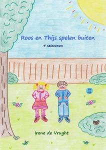 Roos en Thijs spelen buiten