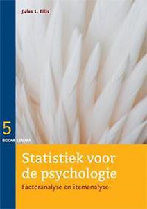 Statistiek voor de psychologie factor- en itemanalyse