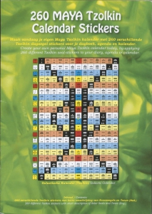 260 Maya Tzolkin Calendar Stickers