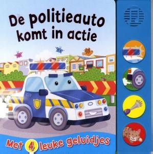 De politieauto komt in actie