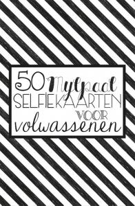 50 mijlpaal selfiekaarten voor volwassenen