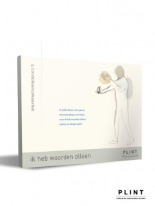 Plint mapje condoléancekaarten'Ik heb woorden alleen'