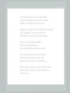 Plint Raamgedicht 'Je kunt je leven' Stefan Hertmans