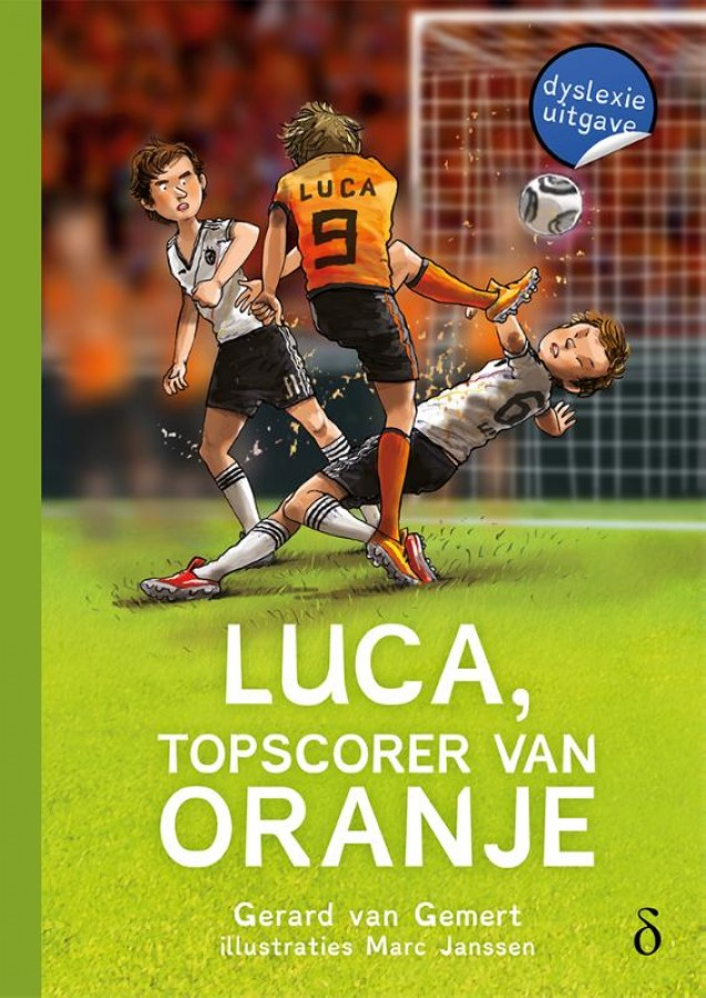 Luca, topscorer van Oranje- dyslexie uitgave