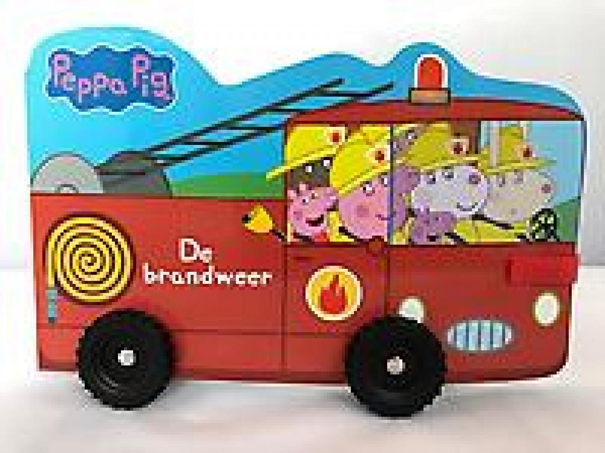 Peppa Pig - Brandweerwagen (op wieltjes)
