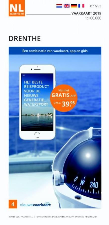 NLWaterland app incl. vaarkaart Drenthe 2019