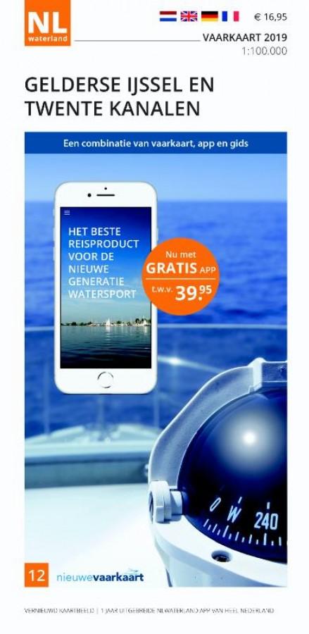 NLWaterland app incl. vaarkaart Gelderse Ijssel en Twente Kanalen 2019