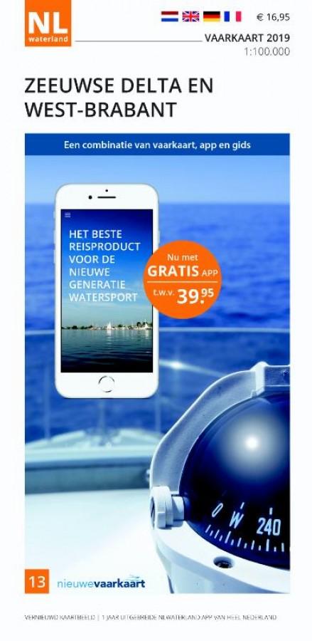 NLWaterland app incl. vaarkaart Zeeuwse Delta en West-Brabant 2019