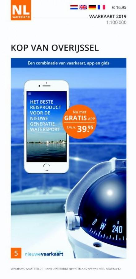 NLWaterland app incl. vaarkaart Kop van Overijssel 2019