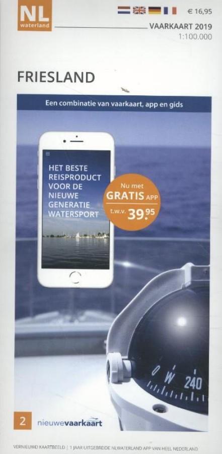 Vaarkaart Friesland 2019 - incl. app