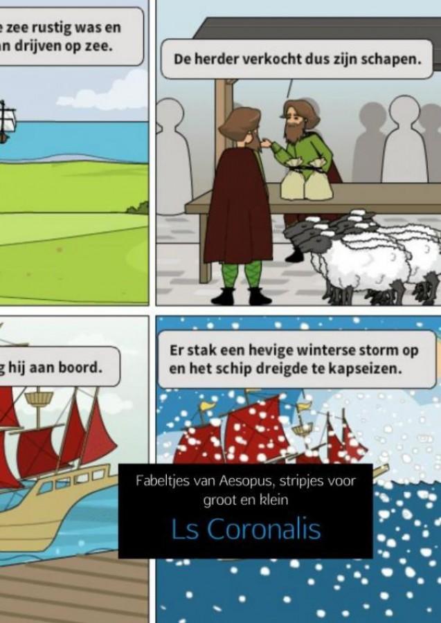 Fabeltjes van Aesopus, stripjes voor groot en klein