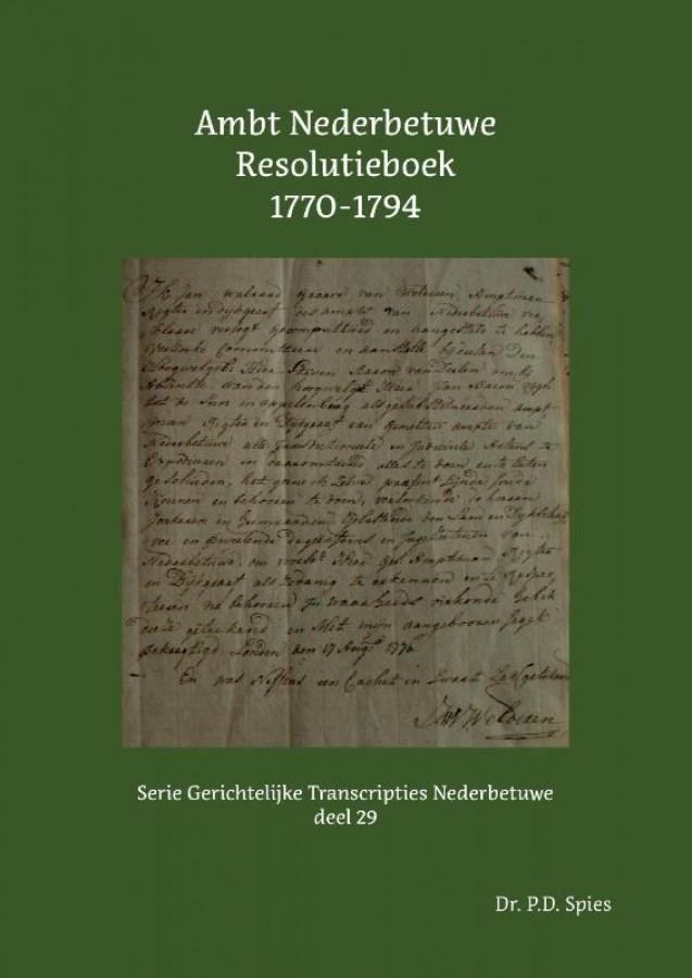 Ambt Nederbetuwe Resolutieboek 1770-1794