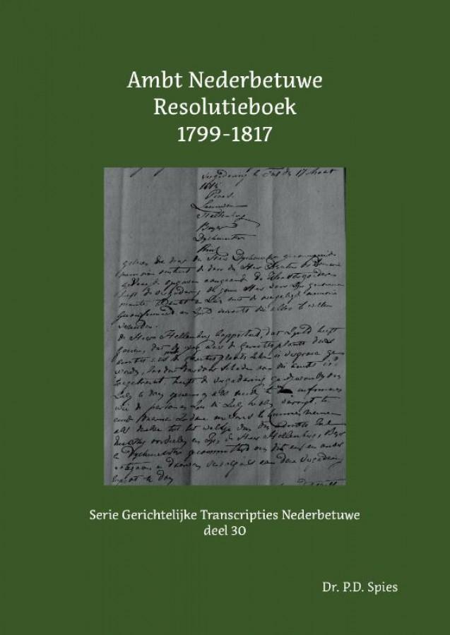 Ambt Nederbetuwe Resolutieboek 1799-1817