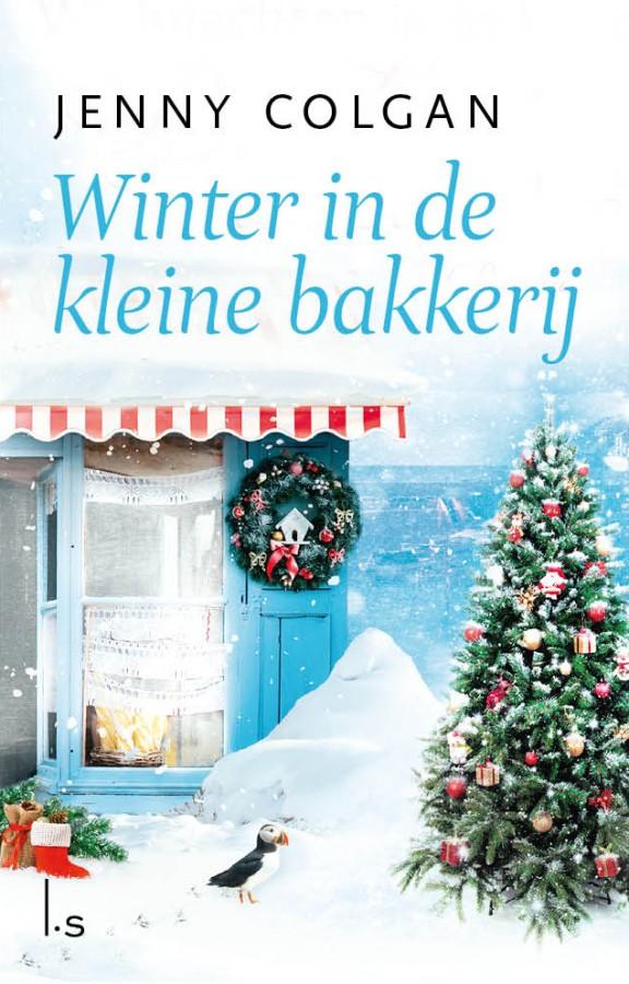 Winter in de kleine bakkerij aan het strand