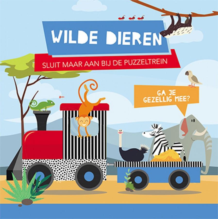 Wilde dieren - boek + treinpuzzel