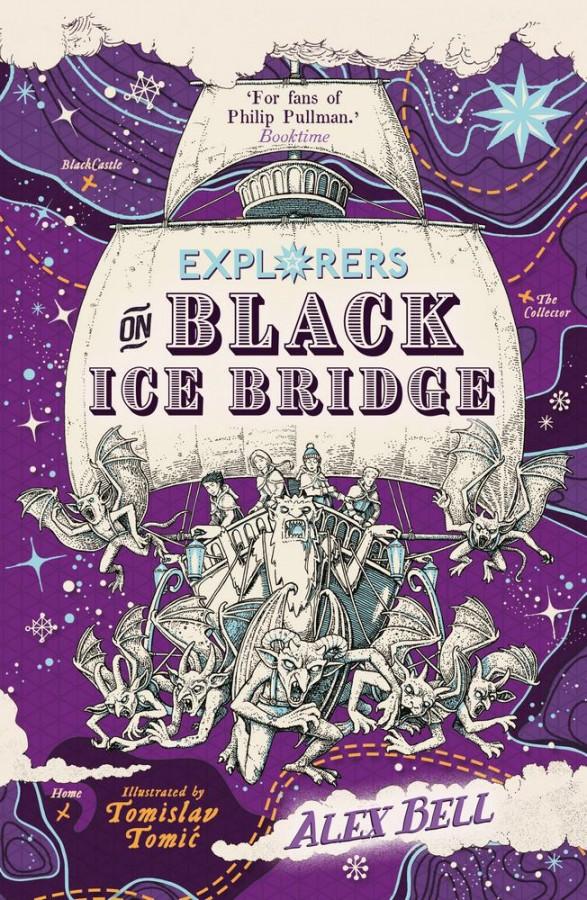 Explorers on the black ice bridge