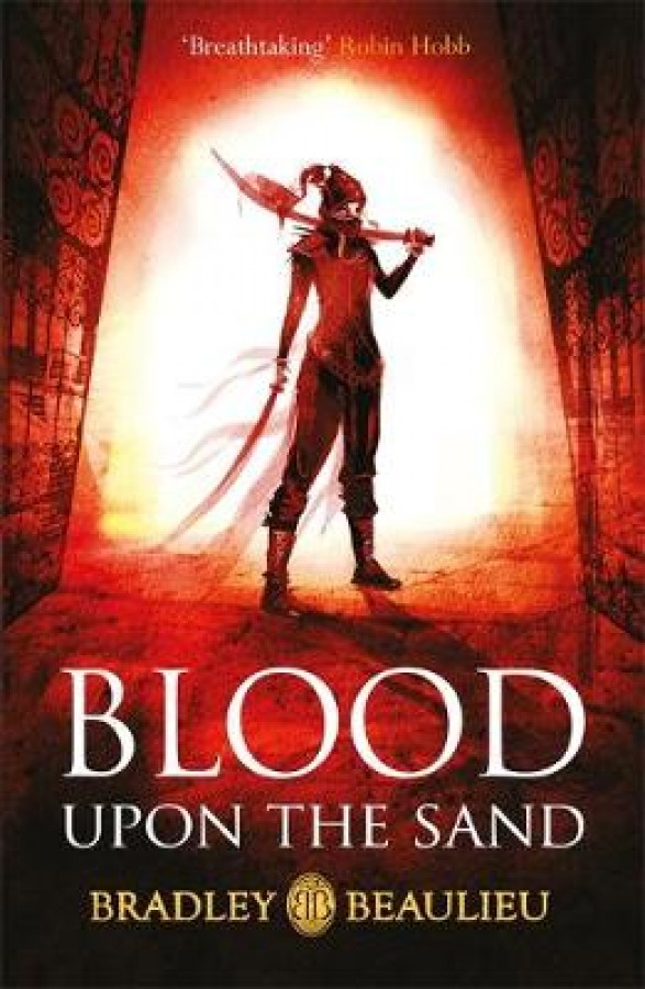 With blood upon the sand