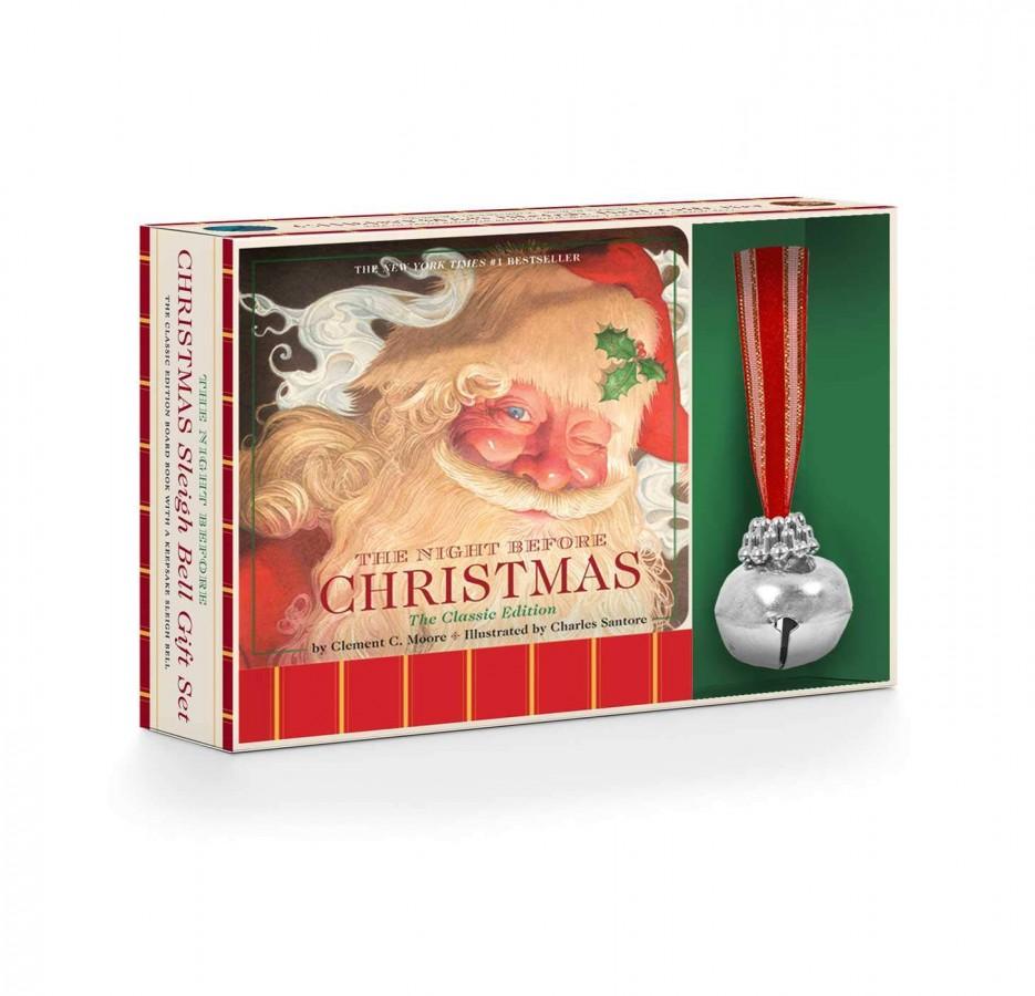 Night before christmas sleigh bell gift set