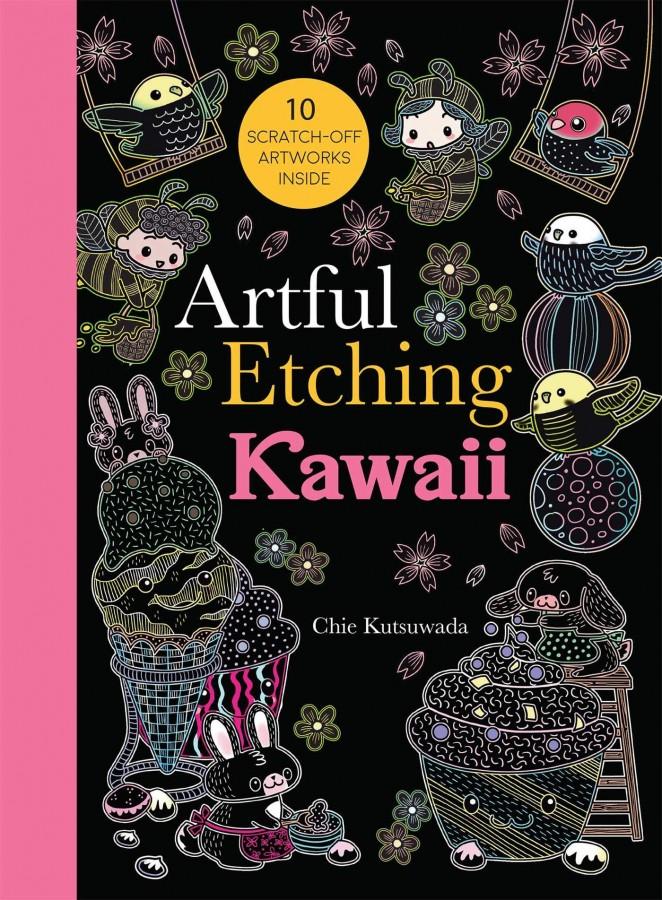 Artful etching: kawaii