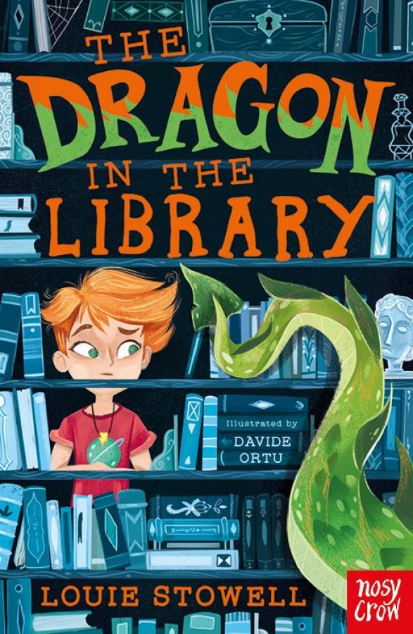 Dragon in the library