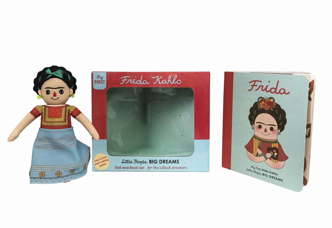 Frida kahlo book & toy gift set