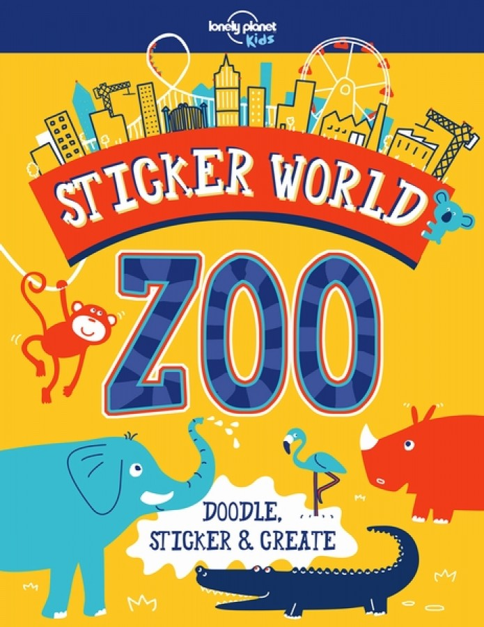 Lonely planet: sticker world zoo