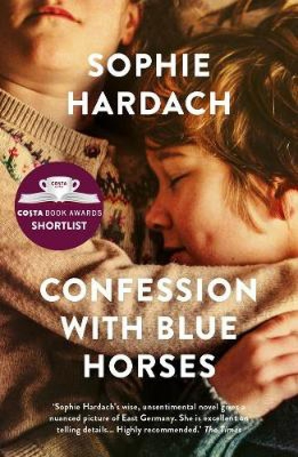 Confessions with blue horses