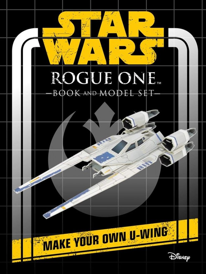 Star wars: rogue one book and model set   make your own u-wing