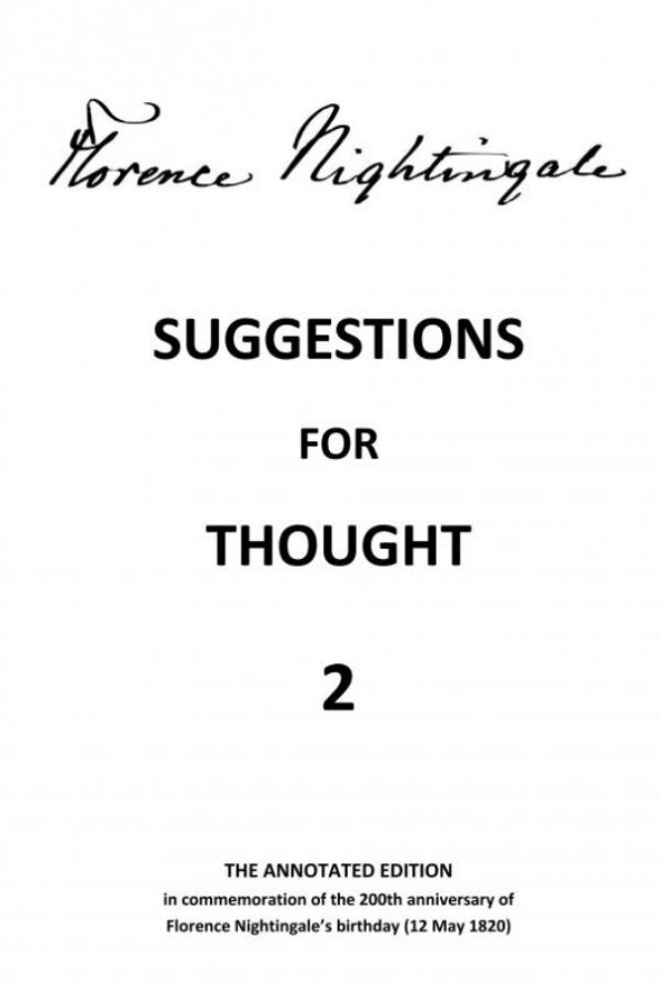 Suggestions for Thought 2