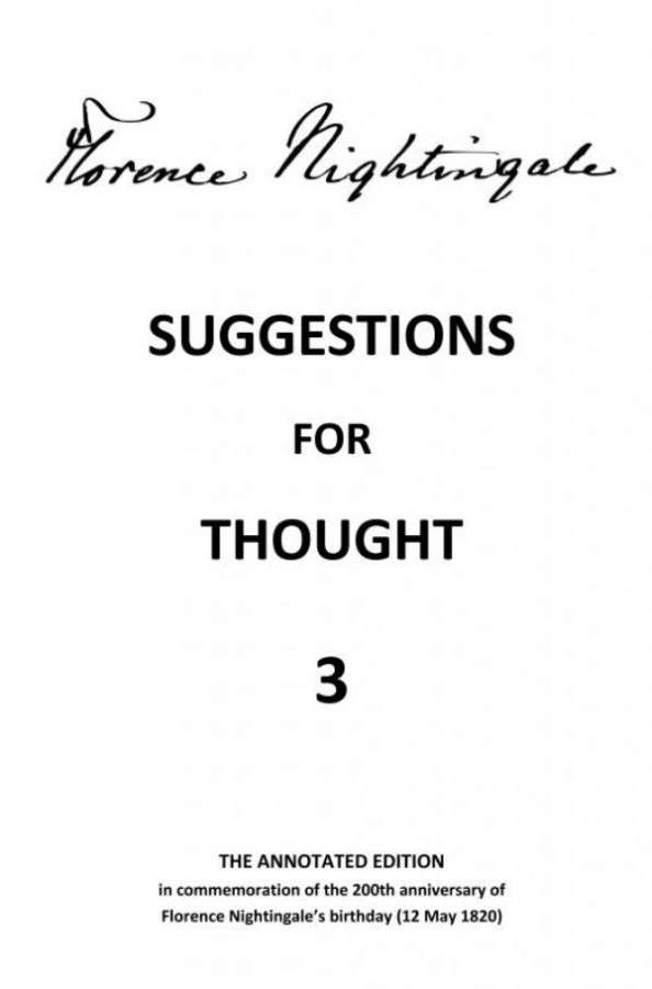 Suggestions for Thought 3