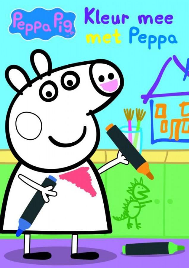 Kleur mee met Peppa