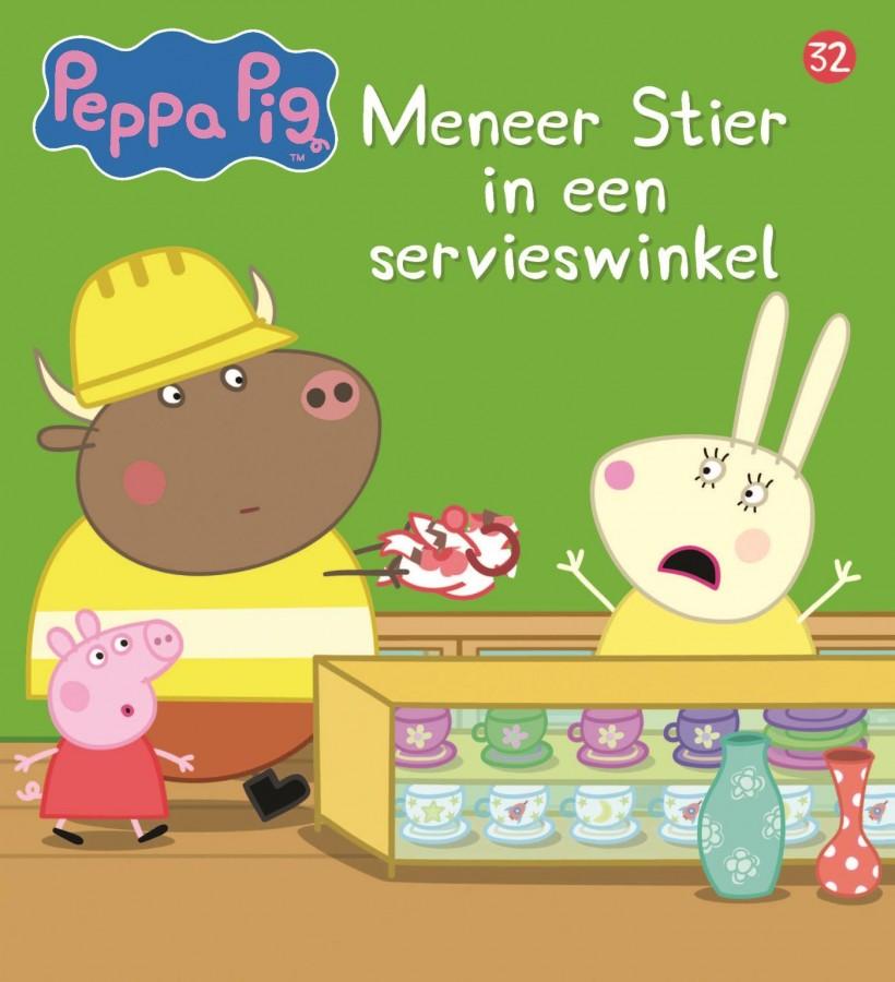 Peppa Pig - Meneer Stier in een servieswinkel